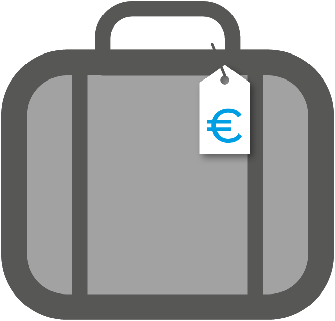 Luggage clipart plane luggage. Flight extra costs baggage
