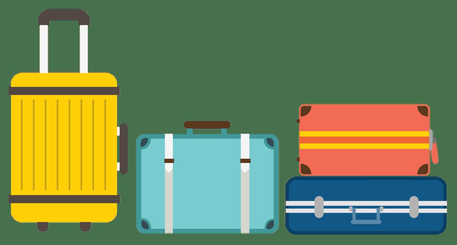 Luggage postcard