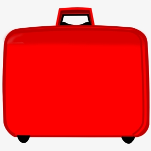 Suitcase clip art the. Luggage clipart red