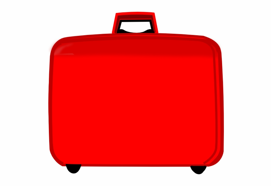 Luggage clipart red. Suitcase transparent png download