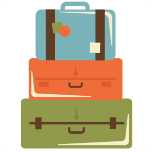 Stacked suitcases svg cut. Luggage clipart scrapbook