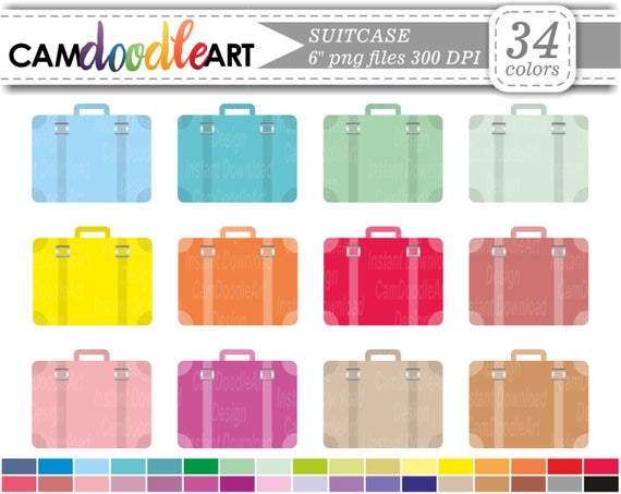 Luggage clipart scrapbook. Suitcase travel scrapbooking cardmaking