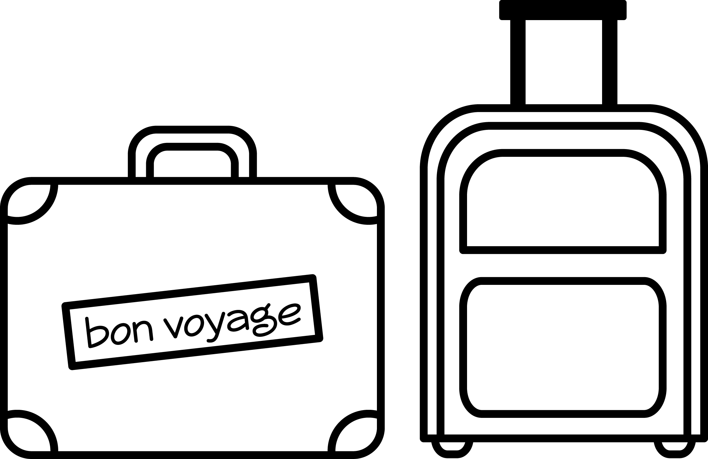 Stamp clipart luggage. Suitcase bags