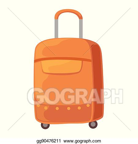 Vector stock brown on. Luggage clipart suitcase handle