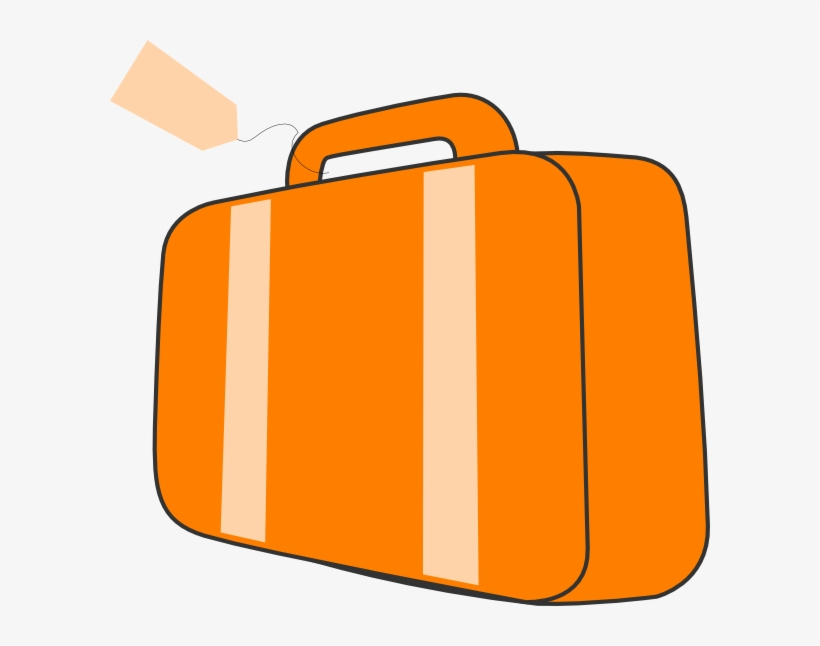 Free orange . Luggage clipart suitcase handle