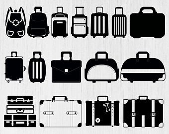 Luggage clipart svg. Suitcase etsy