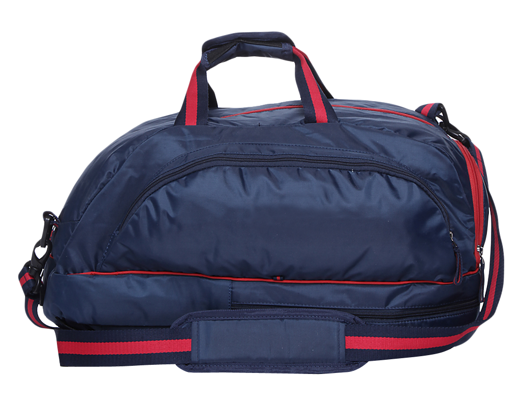 Travel duffle sports bag. Luggage clipart tourism