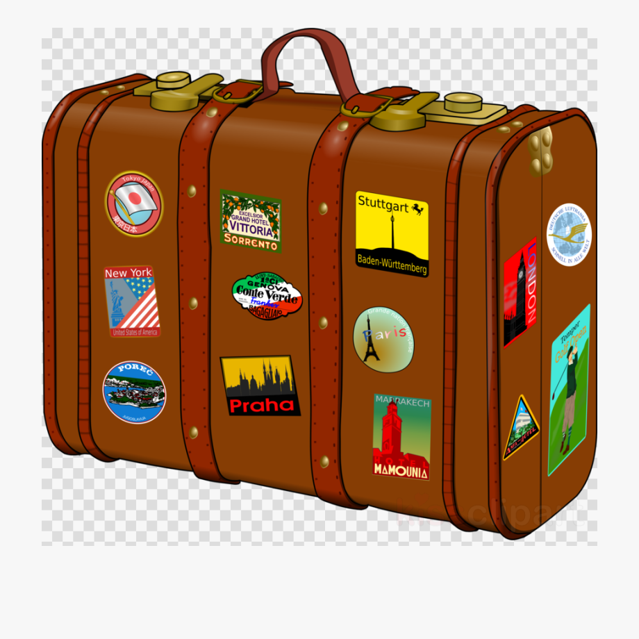 Traveling clipart travel suitcase. Transparent image png
