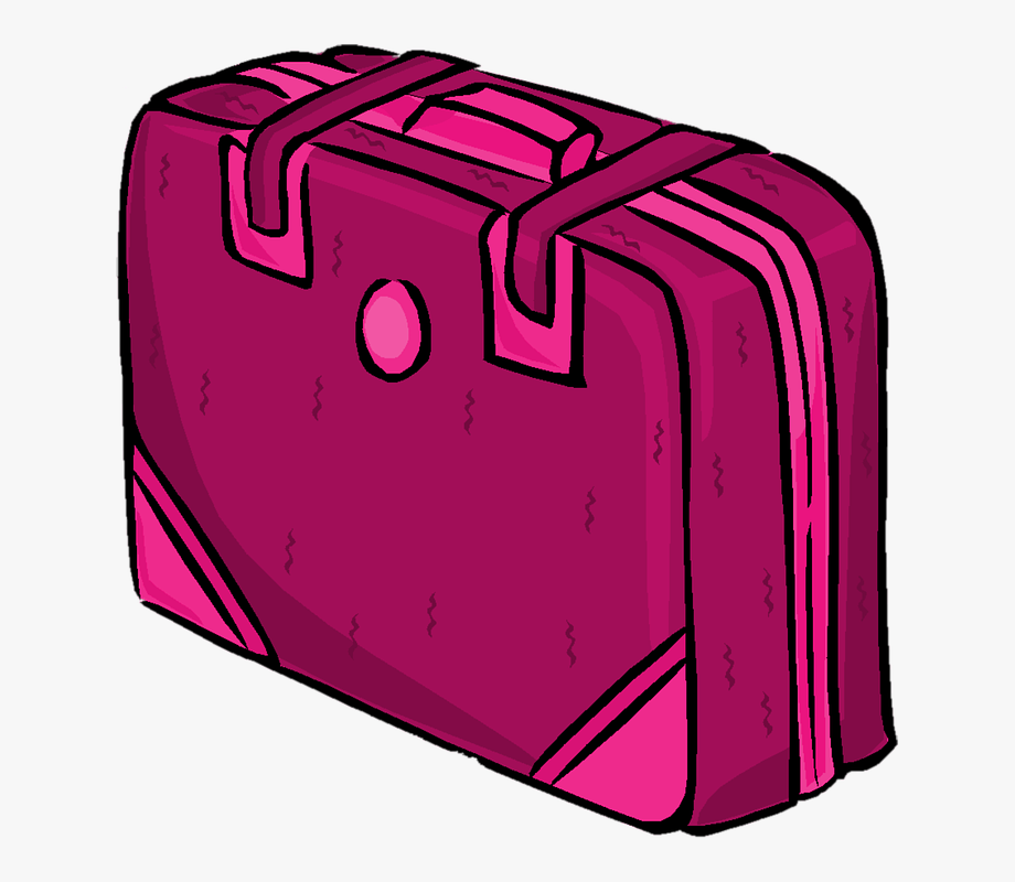 Luggage clipart travel journal. Suitcase case pink bag
