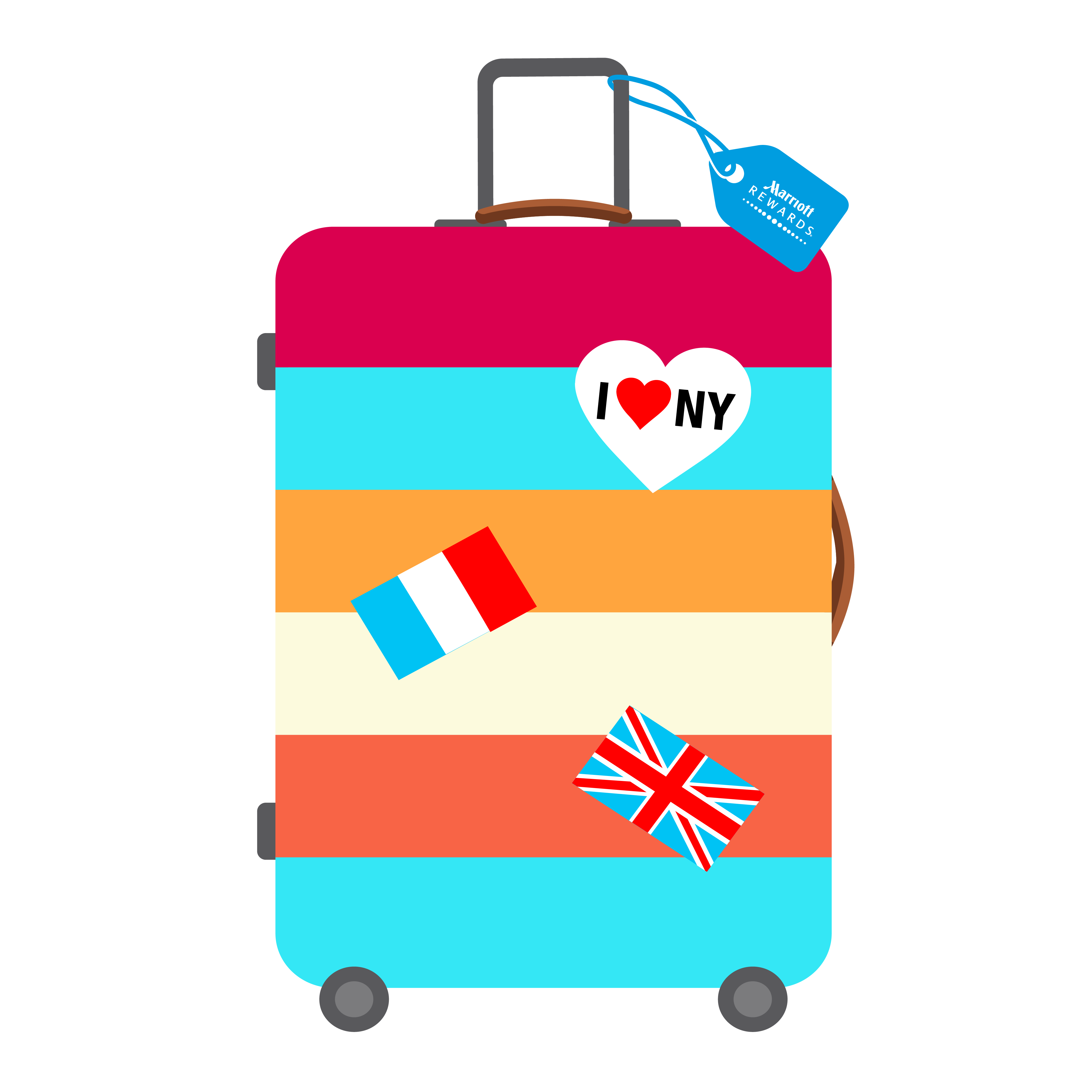 Luxetips marriott rewards launches. Luggage clipart travel kit