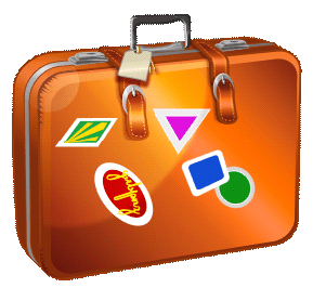 Vacation cliparts zone . Luggage clipart vaction