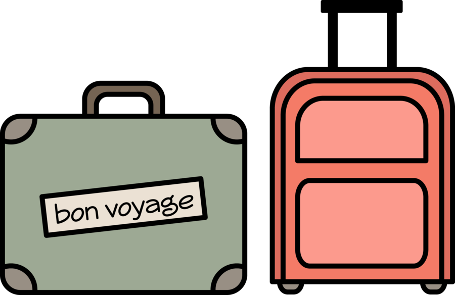 Luggage clipart voyage. Suitcase cartoon product line