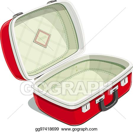 Eps vector red open. Luggage clipart voyage