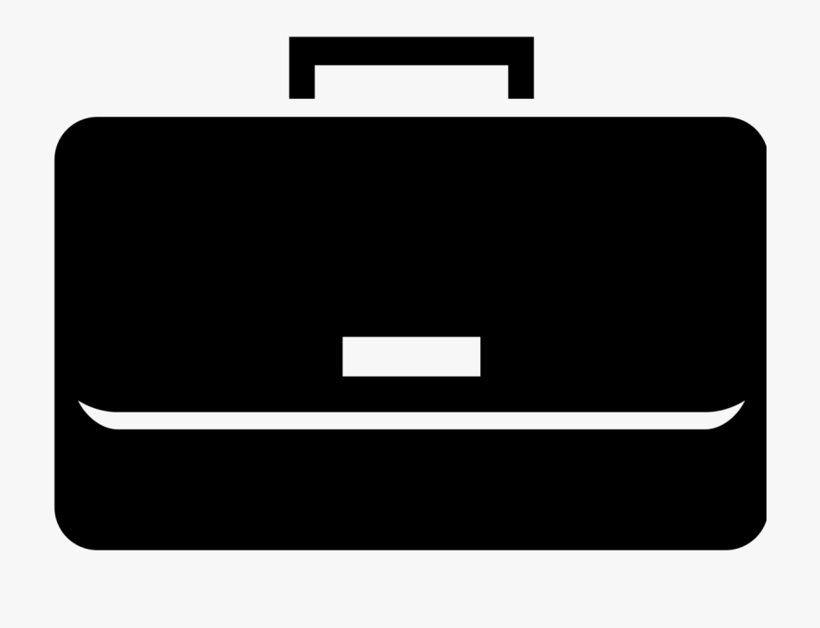 Briefcase black and white. Luggage clipart work bag