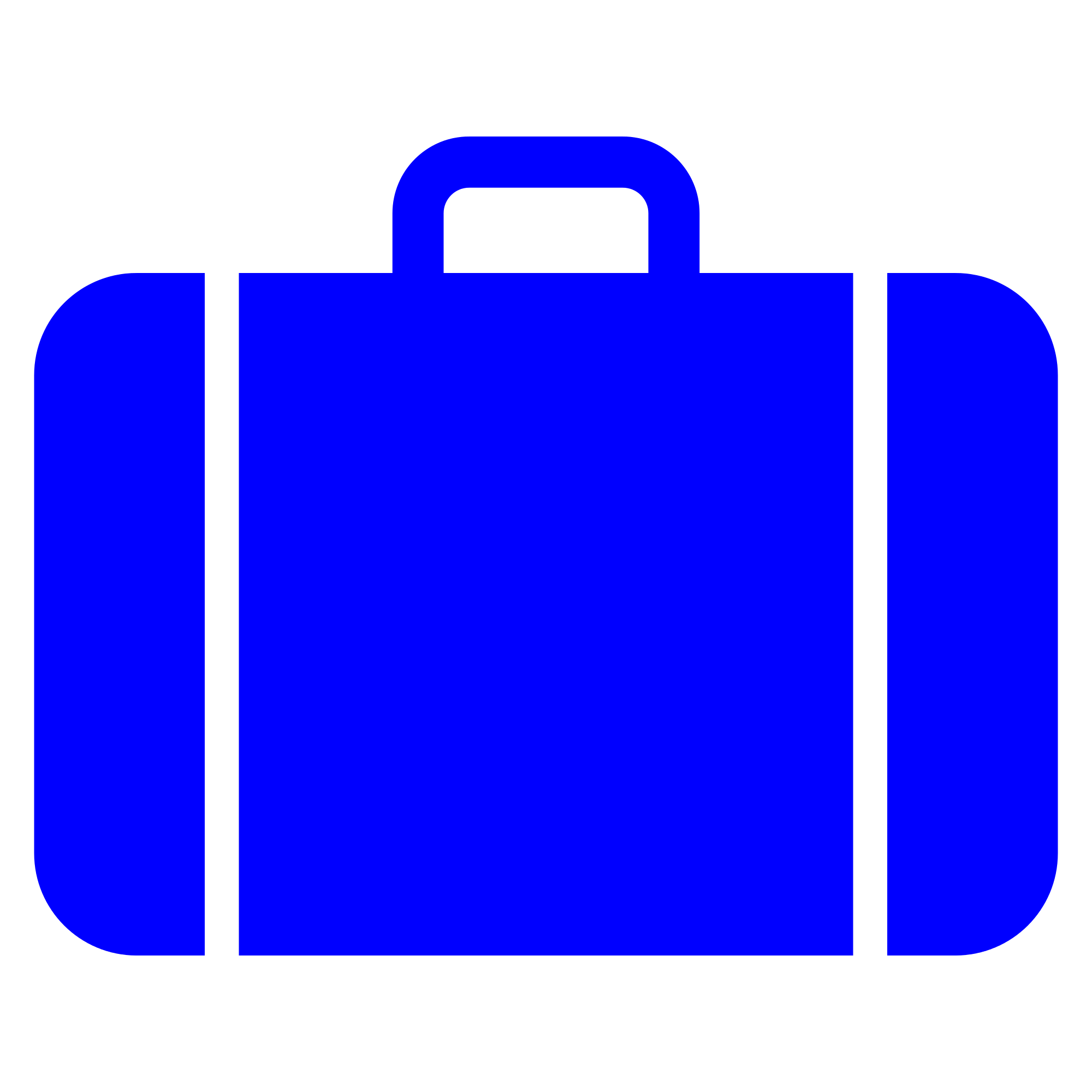 Luggage clipart work bag. File suitcase icon blue