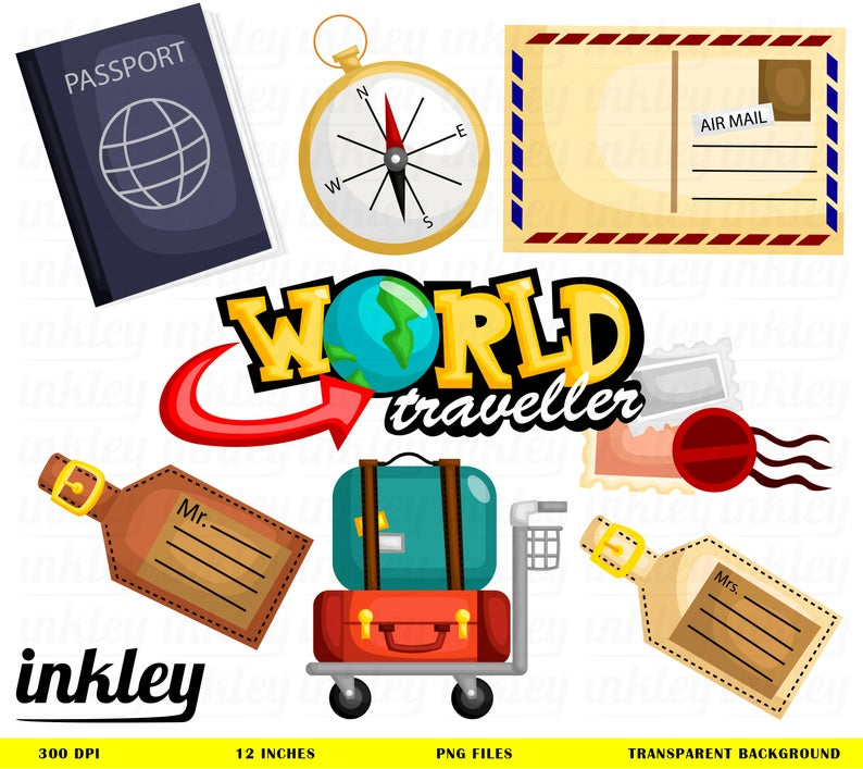 Luggage clipart world travel. Clip art png passport