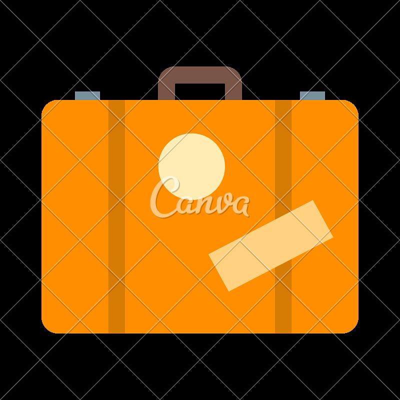 Luggage yellow suitcase