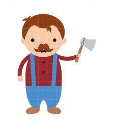 Lumberjack clipart. Clip art fairy tale
