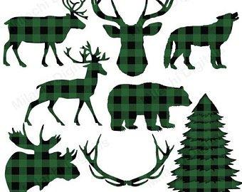 Etsy off sale buffalo. Lumberjack clipart