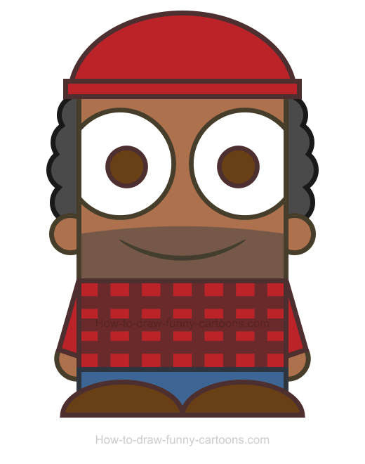 How to draw a. Lumberjack clipart