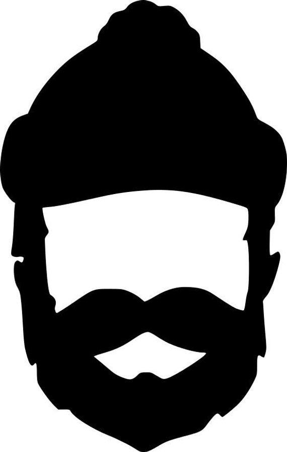Beard clipart template. Lumberjack silhouette at getdrawings