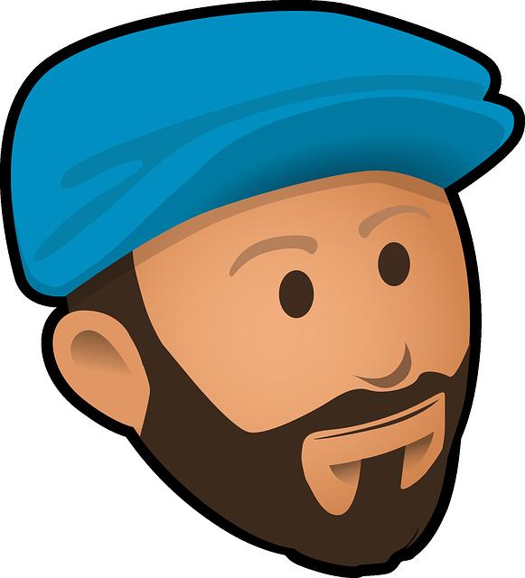 Lumberjack clipart animated. Beard bearded man