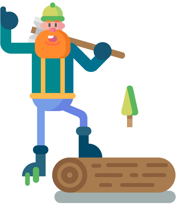 Lumberjack clipart baby lumberjack. Lumberjacks on behance character