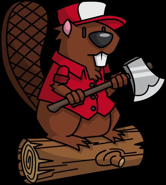 Beaver png images free. Lumberjack clipart cartoon