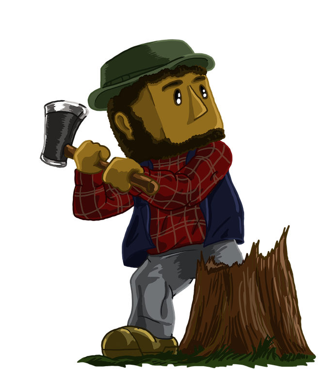 Lumberjack clipart chop wood. Deepworld mmo