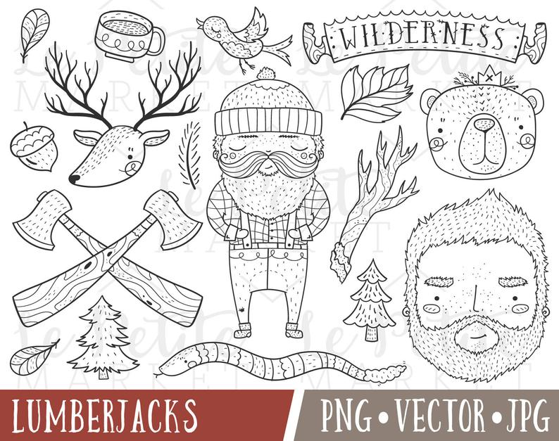 Lumberjack clipart cute. Images wilderness clip art