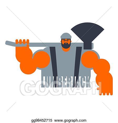 Lumberjack clipart lumberman. Vector stock woodcutter logo