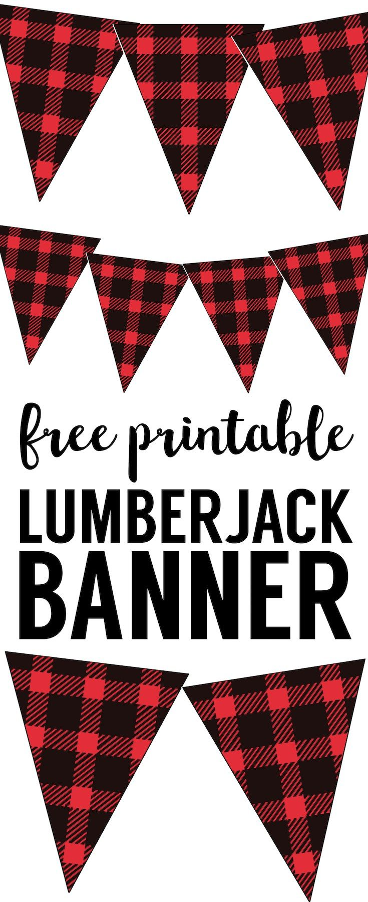 Lumberjack clipart printable. Banner free