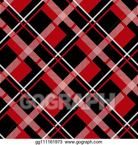 Lumberjack clipart red plaid. Vector art and black