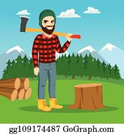 Cutting clip art royalty. Lumberjack clipart tree removal