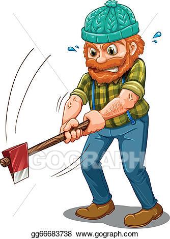 Eps illustration a tired. Lumberjack clipart wood chopper