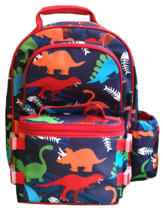 Lunchbox clipart lunch item. Backpack combo dino for