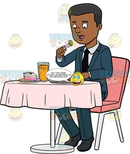A male business executive. Lunch clipart corporate lunch