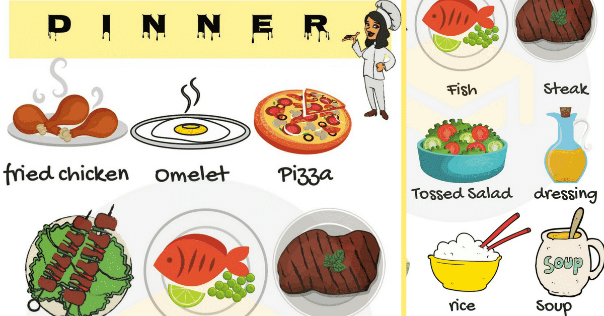 Pasta clipart home cooked meal. Dinner food list useful