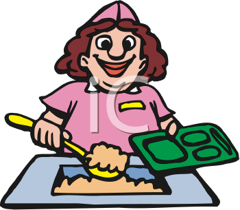 Royalty free image of. Lunch clipart dinner lady