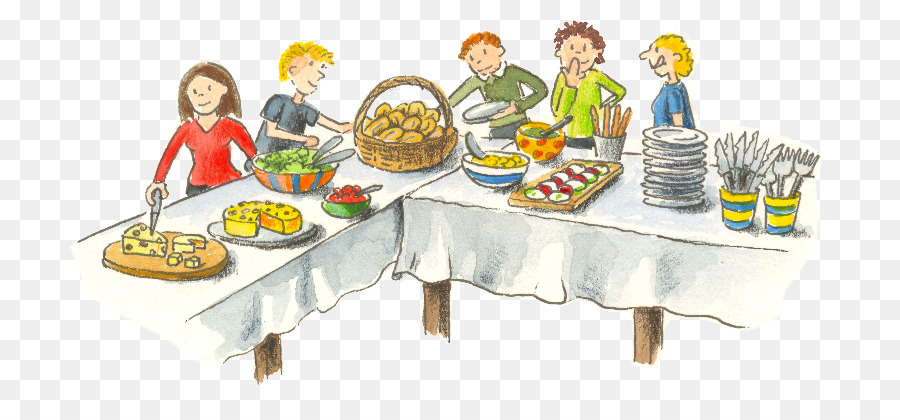 Luncheon clipart table full food. Picnic party