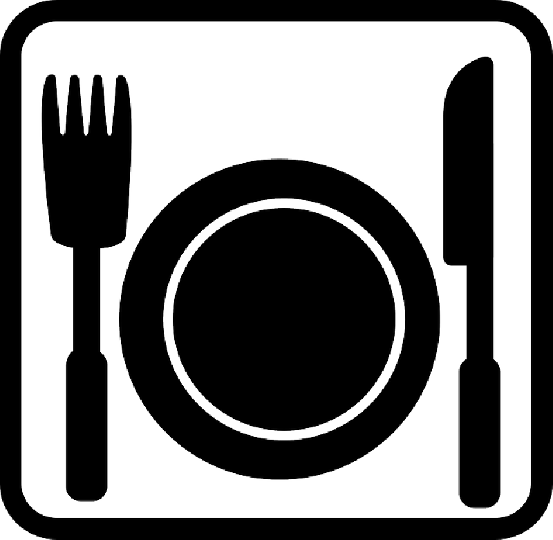 Picture clipart food. Plate of black and