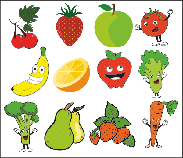 Packed lunch container image. Lunchbox clipart healthy eating
