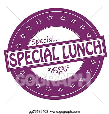 Vector art drawing gg. Lunch clipart special lunch