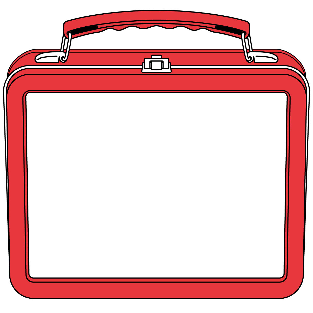 Printable lunch box . Lunchbox clipart