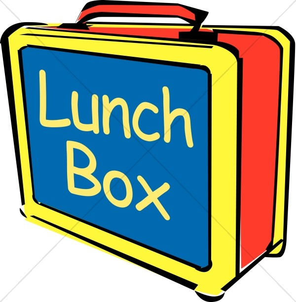Big bright lunch box. Lunchbox clipart