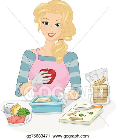 Vector stock lunch box. Lunchbox clipart balanced diet