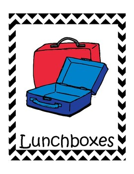 Backpack and labels . Lunchbox clipart bin