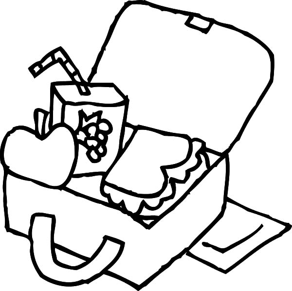 Lunchbox clipart black and white. Collection of free download