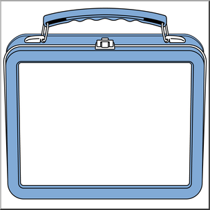 Lunchbox clipart blue. Clip art lunch box