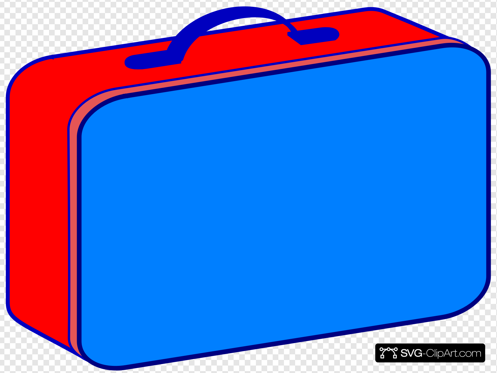Red and clip art. Lunchbox clipart blue